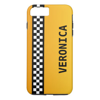 """Yellow Taxi Stripe """"Add Your Name"""" iPhone 8 Plus/7 Plus Case"""