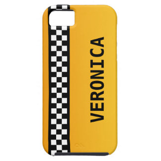 """Yellow Taxi Stripe """"Add Your Name"""" iPhone SE/5/5s Case"""