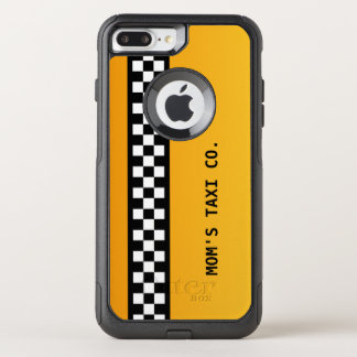 "Yellow Taxi Stripe ""Mom's Taxi Co."" OtterBox Commuter iPhone 8 Plus/7 Plus Case"