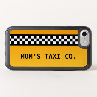 """Yellow Taxi Stripe """"Mom's Taxi Co."""" Speck iPhone Case"""