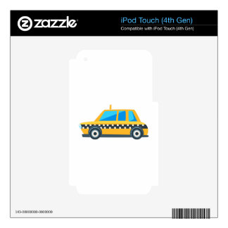 Yellow Taxi Toy Cute Car Icon. Flat Vector Decals For iPod Touch 4G