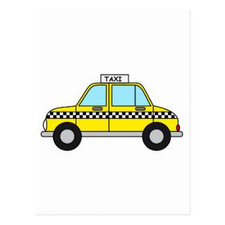 Yellow Taxicab Postcard