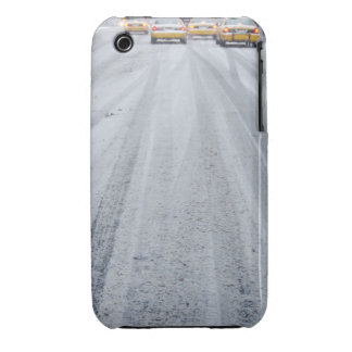 Yellow Taxis in Blizzard iPhone 3 Case-Mate Case