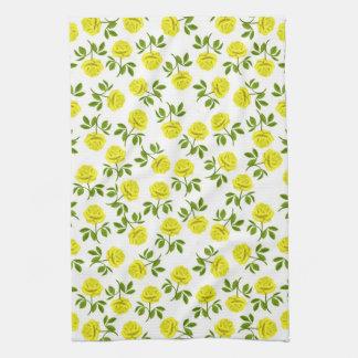 Yellow Tea Roses Kitchen Towel
