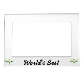 Yellow Teal Buddha Eyes.png Magnetic Photo Frame
