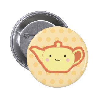 Yellow Teapot 2 Inch Round Button