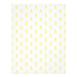 Yellow Teddy Bear and Polka Dot Scrapbooking Paper