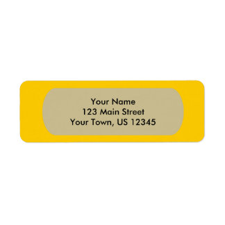 Yellow Template Label