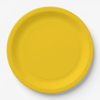 Yellow Template Paper Plate
