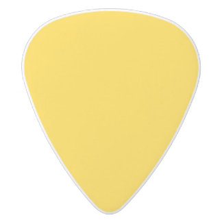 Yellow Template White Delrin Guitar Pick
