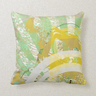yellow temple throw pillows