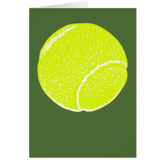 yellow tennis ball card