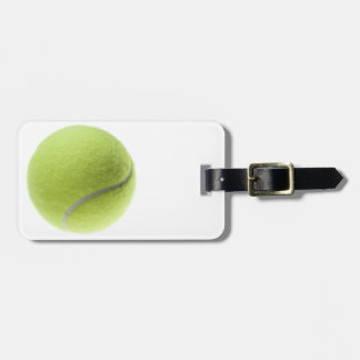 Yellow Tennis Ball Customized Template Bag Tag
