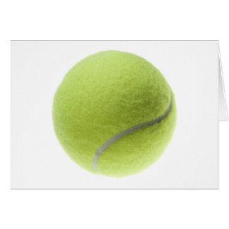 Yellow Tennis Ball Customized Template Greeting Card