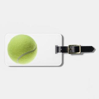 Yellow Tennis Ball Customized Template Travel Bag Tag