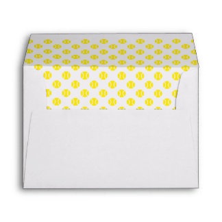 Yellow tennis ball liner envelopes in all sizes
