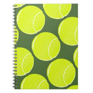 yellow tennis ball notebook