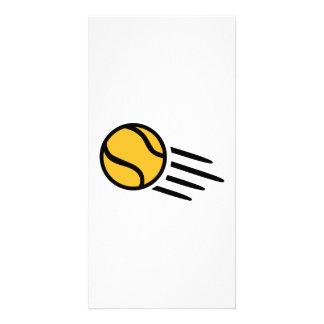 Yellow tennis ball photo card