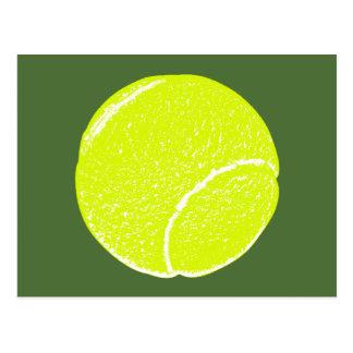 yellow tennis ball postcard