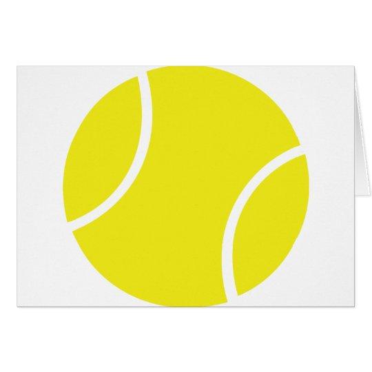 Yellow Tennis Ball Symbol Card