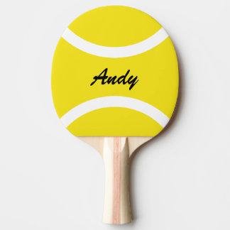 Yellow tennis ball tabletennis ping pong paddles
