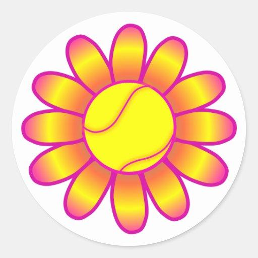 Yellow Tennis Girl Sticker
