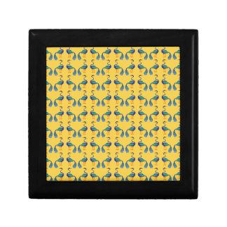 Yellow textile gift box