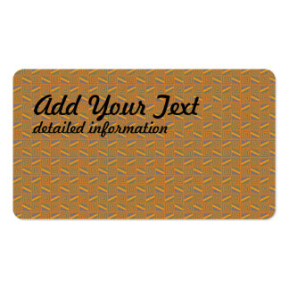 yellow textile print Double-Sided standard business cards (Pack of 100)