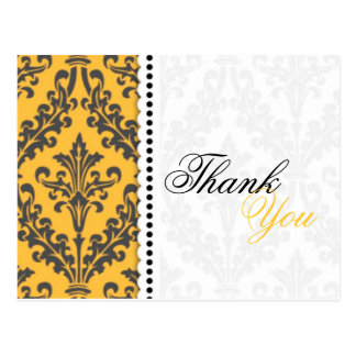 Yellow Thank You Postcards