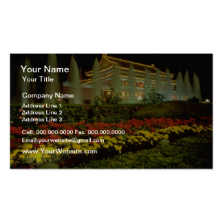 yellow The Gate of Heavenly Peace, Forbidden City, Business Card Template