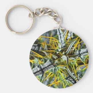 Yellow Thistle Thorns, Poster (1) Basic Round Button Keychain