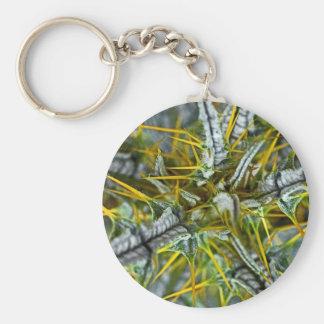 Yellow Thistle Thorns, Poster (2) Basic Round Button Keychain