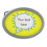 Yellow thought bubble with your words belt buckel belt buckle