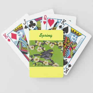 Yellow Throat Warbler ~ Spring Bicycle Playing Cards