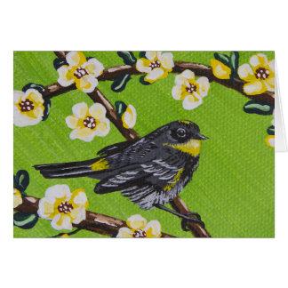 Yellow Throat Warbler ~ Spring Card