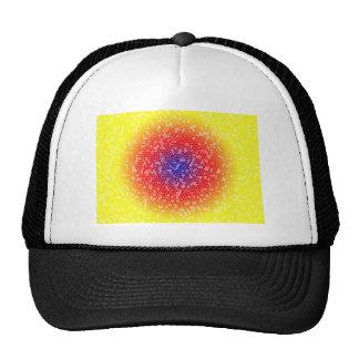 Yellow through he net mesh hat