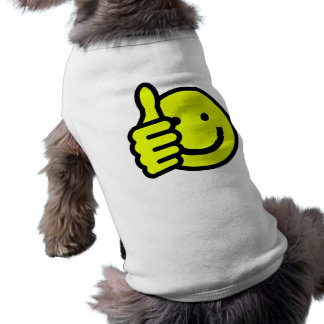 Yellow Thumbs Up Smiley Doggie T-shirt
