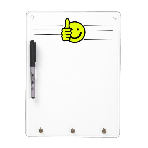 Yellow Thumbs Up Smiley Dry-Erase Whiteboards