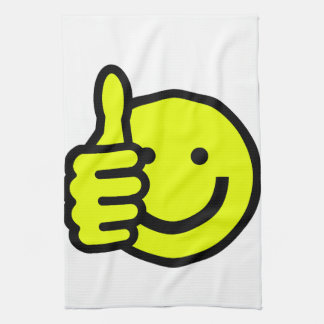 Yellow Thumbs Up Smiley Kitchen Towel