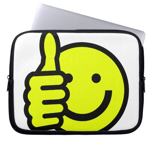 Yellow Thumbs Up Smiley Laptop Computer Sleeve