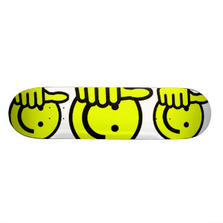 Yellow Thumbs Up Smiley Skateboard Deck