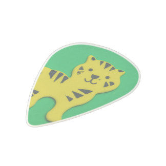 Yellow tiger acetal guitar pick