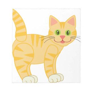 Yellow Tiger Cat Notepad