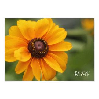 Yellow Tiger Eye Flower RSVP Invitation