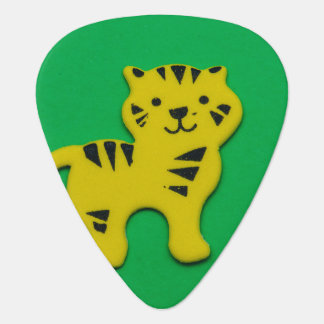Yellow tiger guitar pick