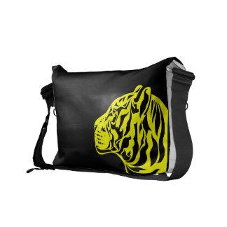 Yellow Tiger Messenger Bag