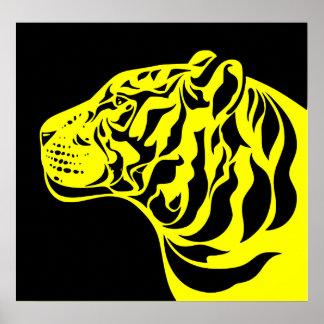Yellow Tiger Poster