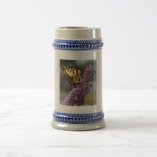 Yellow Tiger Swallowtail Beer Stein