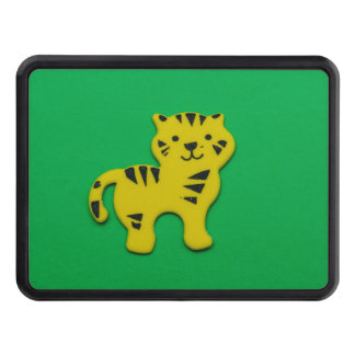 Yellow tiger tow hitch cover