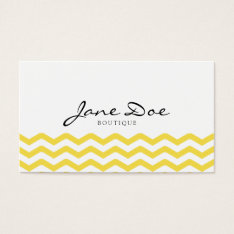 Yellow Tight Chevron Pattern Business Card at Zazzle